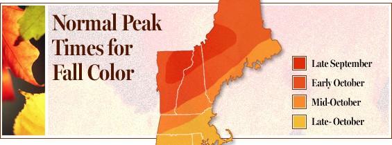 Fall Color Peak Times